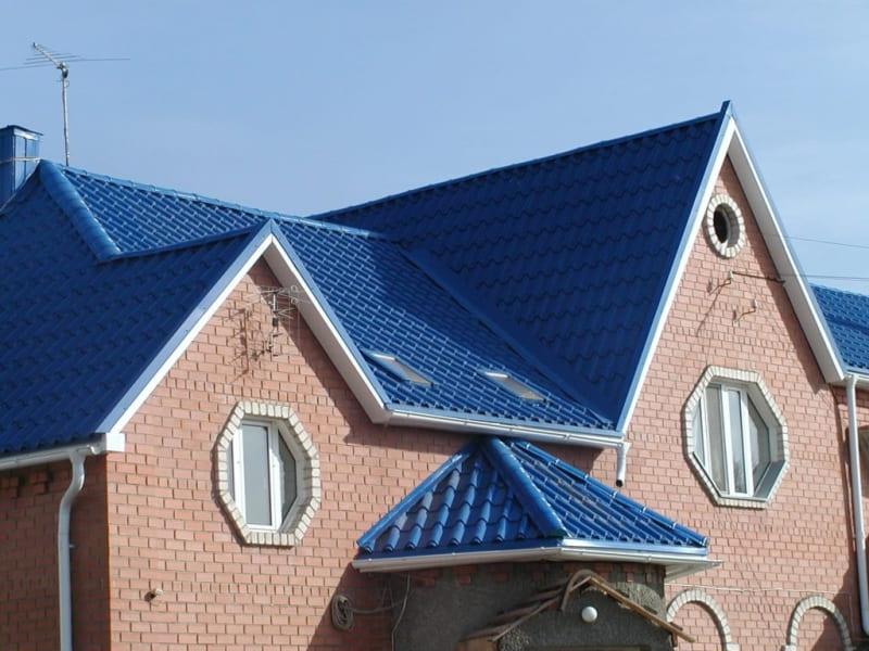 Металлочерепица от кровельного завода Кровля-Сервис цвет - RAL5005 Сигнальный синий
